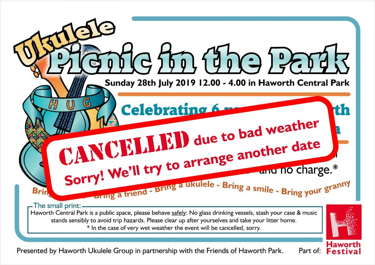 CANCELLED!! HUGE 2019 – Picnic in the Park